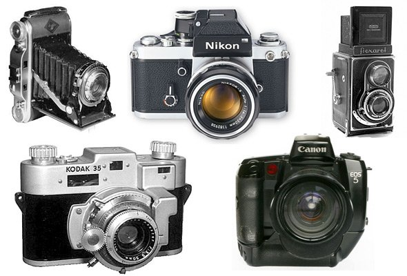 cámaras analógicas y digitales